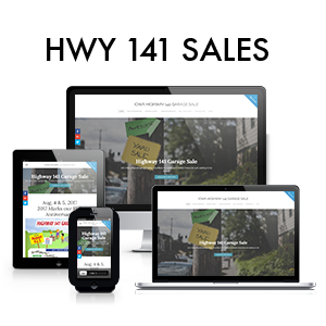 Highway 141 Garage Sales Responsive Website Design
