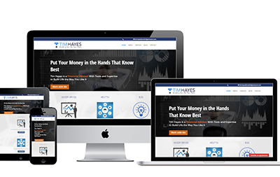 Website Layout for Tim Hayes