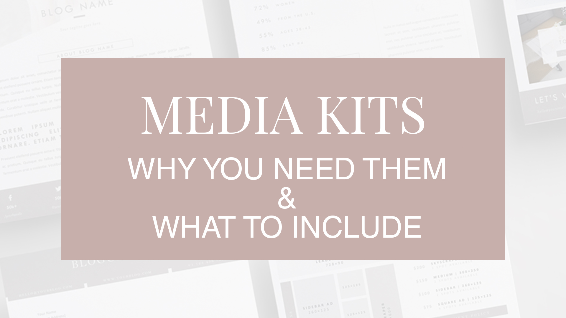 How to create a media kit for your business