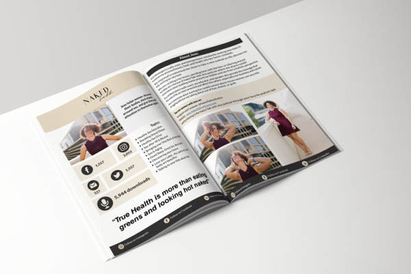 Three page media kit template made in Canva
