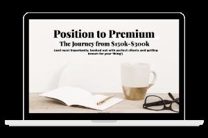 Premium Positioning Checklist Cover